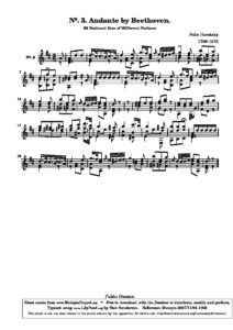 60 National Airs of Different Nations N. 3. Andante by Beethoven