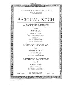 A modern method for the guitar School of Tarrega vol 1