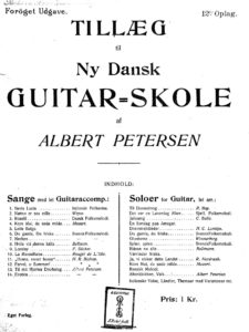 Addendum to New Danish Guitar School