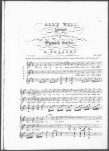 All s Well, arranged with an Accompaniment for the Spanish Guitar