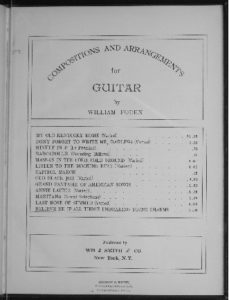Believe me if all those endearing young charms  guitar solo  varied arr. by William Foden