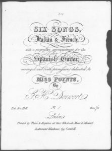 Canzonetta Siciliana No. 1 from Six Songs, Italian  French, with a progressive accompaniment for the Spanish Guitar