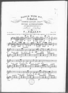 Dance with Me, a Ballad, Arranged with a Guitar Accompaniment