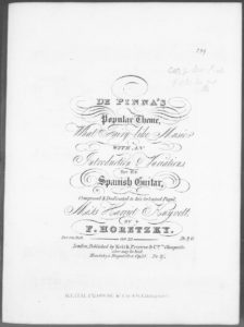 De Pinna s Popular Theme What Fairy-like Music with an Introduction  Variations for the Spanish Guitar . Op. 32