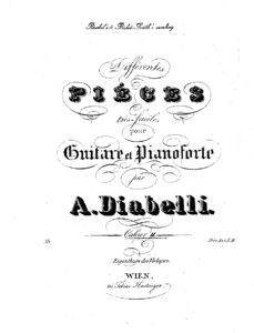 Differentes pieces tres faciles for piano forte and guitar II (Piano and Guitar)