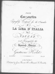 E Vezzosa si la rosa, from Four Canzonettes Expressly Composed for the 2nd number of Lira D Italia by Vaccaj and arranged for the Spanish Guitar