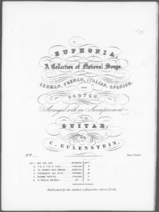 Euphonia  a Collection of National Songs, German, French, Italian  Scotch. Arranged with an Accompaniment for the Guitar. No. 3. Ye Banks and Braes