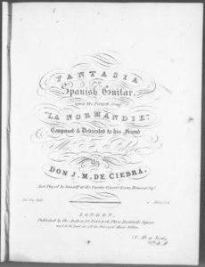Fantasia for the Spanish Guitar upon the French Song La Normandie
