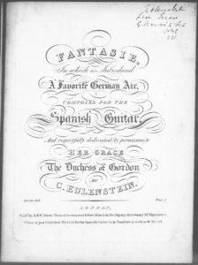 Fantasie, in which is introduced A Favorite German Air, composed for the Spanish Guitar