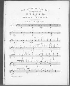 Five Favorite Waltzes arranged for the Guitar