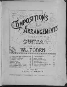 Flower song  for guitar G. Lange  arranged by Wm. Foden