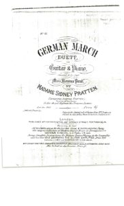 German march duett for guitar and piano composed by Madame Sidney Pratten