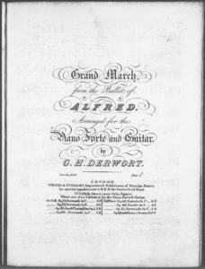Grand March from the Ballet of Alfred, arranged for the Piano Forte and Guitar
