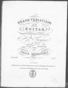 Grand Variations for the Guitar . Op. 20