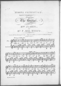 Himno Patriotico. Spanish National Song of Liberty, arranged for the guitar