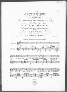 I Love But Thee, A Ballad by Thomas Moore Esqr., Arranged with an Accompaniment for the Guitar