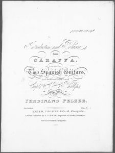 Introduction and Polacca from Caraffa, arranged for Two Spanish Guitars