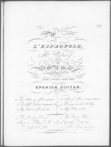 L Espagnole  a Selection of Songs Arranged for the Spanish Guitar. No. 2. The Light Castanet