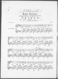 La Hirondelle, French Romanza, arranged with an accompaniment for the guitar
