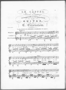 Le Castel, French Romanze, arranged with an Accompaniment for the Guitar