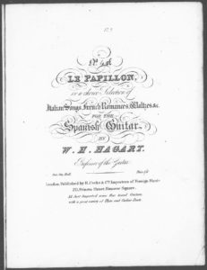 Le Papillon, or a choice Selection of Italian Songs, French Romances, Waltzes, c. for the Spanish Guitar. No. 4