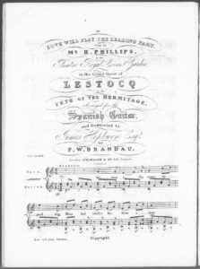 Love Will Play the Leading Part, sung by Mr. H. Phillips at the Theatre Royal, Covent Garden