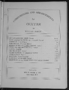 Massa's in the cold, cold ground  guitar solo, varied S.C. Foster  arr. by William Foden