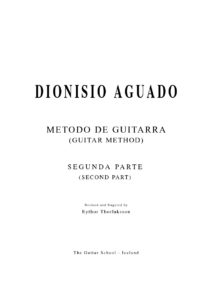 Metodo de Guitarra II Revised and fingered by Eythor Thorlaksson
