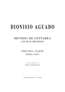 Metodo de Guitarra III Revised and fingered by Eythor Thorlaksson