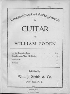 My old Kentucky home  guitar solo, varied S.C. Foster  arr. by William Foden