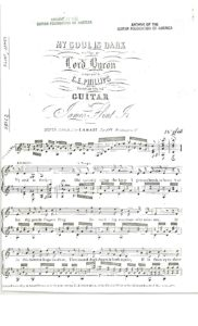 My soul is dark written by Lord Byron composed by C. E. Phillips arranged for the guitar by James Flint, Jr.