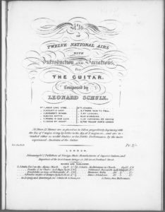 No. 10 of Twelve National airs with Introduction and Variations for the Guitar  La Biondina . Op. 30
