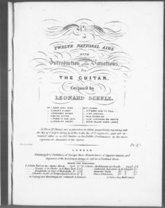 No. 6 of Twelve National airs with Introduction and Variations for the Guitar  Weber s Favorite Air, Cease My Heart This Sad Desponding . Op. 26
