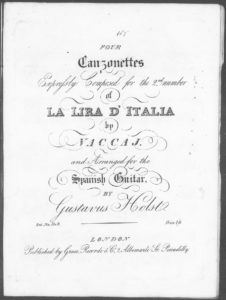 Ogni zeffiro che spira, from Four Canzonettes Expressly Composed for the 2nd number of Lira D Italia and arranged for the Spanish Guitar