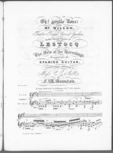 Oh Gentle Love, sung by Mr. Wilson, at the Theatre Royal, Covent Garden