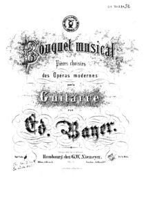 Op. 1 Bouquet musical Pieces choisies des operas Modernes Cah 4