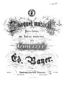 Op. 1 Bouquet musical Pieces choisies des operas Modernes Cah 6