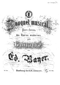 Op. 1 Bouquet musical Pieces choisies des operas Modernes Cah 9