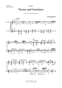 Op. 18 Theme and variations (2 guitars)
