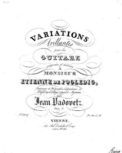 Op. 2 Variations brillantes pour la guitare