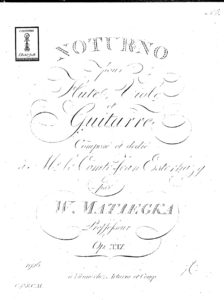 Op. 21 Notturno for Flute, Viola and Guitar Trio