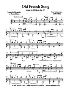 Op. 39 Music for Children Old French Song