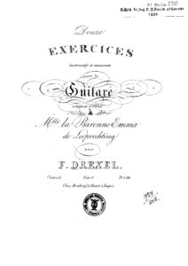 Op. 46 Douze exercices instructifs et amusants Liv. 1