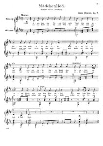 Op. 7 Madchenlied