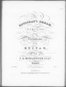 Rousseau s Dream  composed with Variations for the Guitar