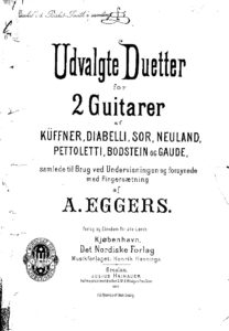 Selected Duets for 2 Guitars of Kuffner, Diabelli, Sor