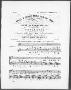 Shall I Never More Behold Thee. Air from the opera Lucia di Lammermoor, arranged with Guitar accompaniment No. 10 of The Student s Companion