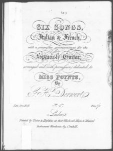Soyez Discret No. 5 from Six Songs, Italian  French, with a progressive accompaniment for the Spanish Guitar