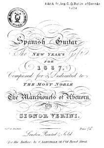 Spanish Guitar The New Year's Gift for 1837