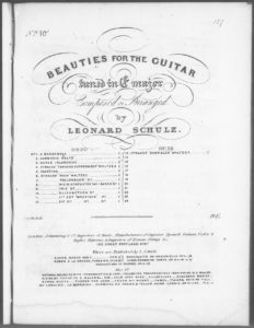 Strauss  Elizabethan Waltzes opus 20 no. 10, from Beauties for the Guitar tuned in E major . Op. 20